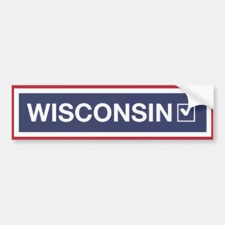 Wisconsin drehte blaues √ um autoaufkleber