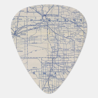 Wisconsin-Fahrrad-Straßenkarte 2 Plektrum