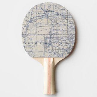 Wisconsin-Fahrrad-Straßenkarte 2 Tischtennis Schläger