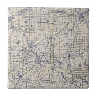 Wisconsin-Fahrrad-Straßenkarte 4 Keramikfliese
