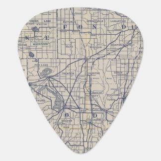 Wisconsin-Fahrrad-Straßenkarte 4 Plektron