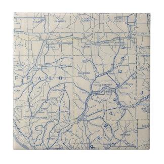 Wisconsin-Fahrrad-Straßenkarte 6 Keramikfliese