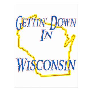 Wisconsin - Getting unten Postkarte