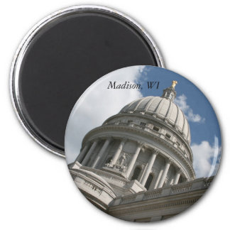 Wisconsin-Hauptstadts-Magnet Runder Magnet 5,7 Cm