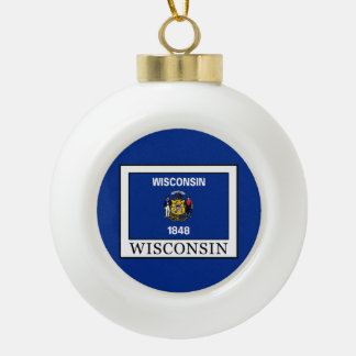 Wisconsin Keramik Kugel-Ornament