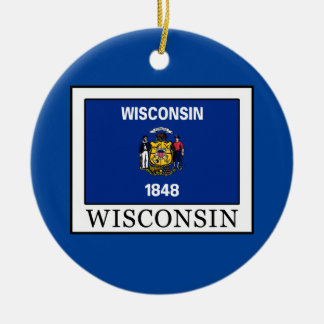 Wisconsin Keramik Ornament