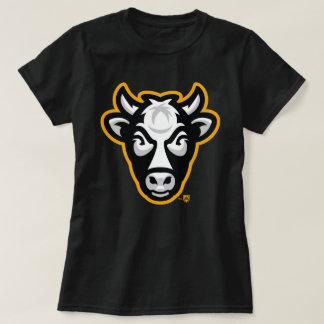 Wisconsin-Kuh-Damen-T-Stück (Schwarzes) T-Shirt