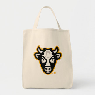 Wisconsin-Kuh-Logo-Lebensmittelgeschäft-Tasche Tragetasche