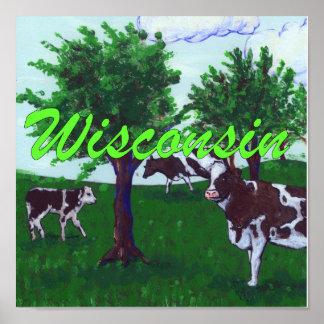 Wisconsin-Kühe Poster