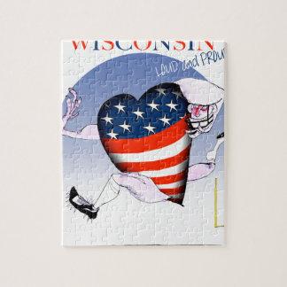Wisconsin laut und stolz puzzle