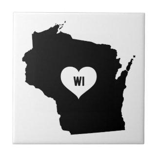 Wisconsin-Liebe Fliese