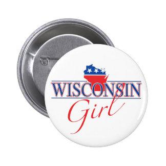 Wisconsin-Mädchen-Knopf Runder Button 5,1 Cm