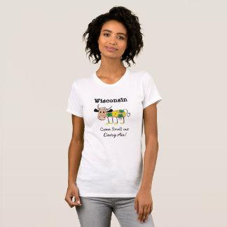 Wisconsin-Molkereiluft-Spaß-Shirt T-Shirt