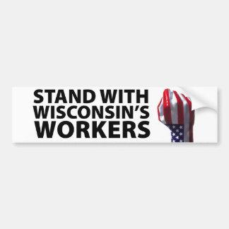Wisconsin-Proteste Autoaufkleber