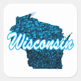Wisconsin Quadratischer Aufkleber