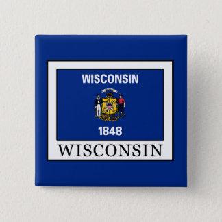 Wisconsin Quadratischer Button 5,1 Cm