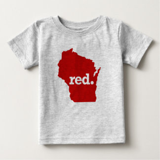 WISCONSIN-ROT-STAAT BABY T-SHIRT