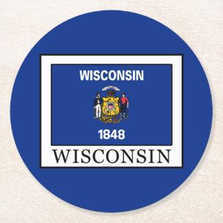 Wisconsin Runder Pappuntersetzer