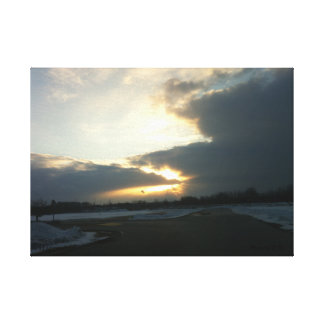 Wisconsin-Schnee-Sturm Leinwanddruck