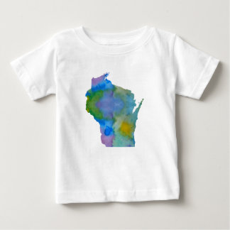 Wisconsin-Silhouette Baby T-shirt