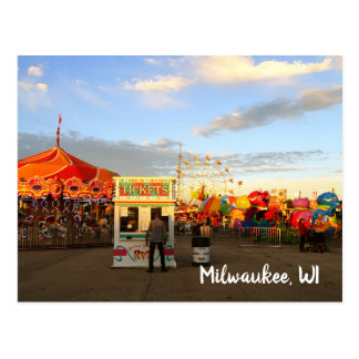 Wisconsin-Staatangemessene Milwaukee WI Postkarte