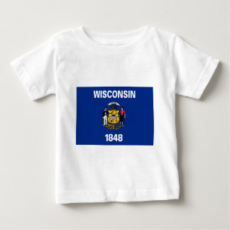 Wisconsin-Staats-Flagge Baby T-shirt