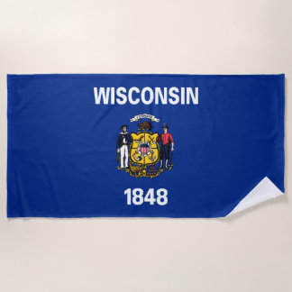 Wisconsin-Staats-Flagge Strandtuch