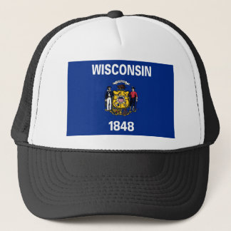 Wisconsin-Staats-Flagge Truckerkappe