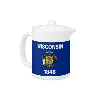 Wisconsin-Staats-Flaggen-Teekanne