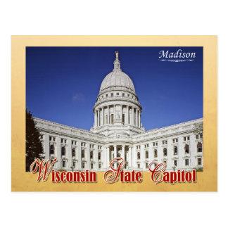 Wisconsin-Staats-Hauptstadts-Gebäude in Madison Postkarte