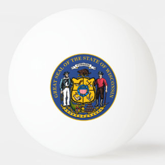 Wisconsin-Staats-Siegel - Ping-Pong Ball