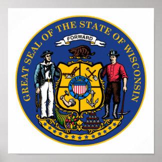 Wisconsin-Staats-Siegel Poster