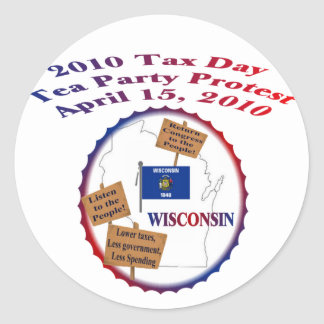 Wisconsin-Steuer-Tagestee-Party-Protest Sticker