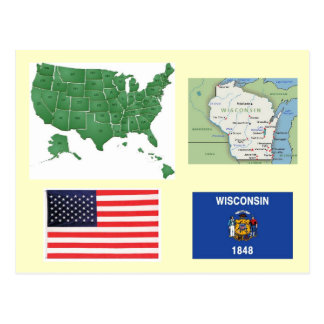 Wisconsin, USA Postkarte