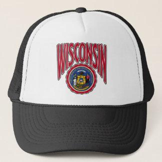 Wisconsinbogen und -Siegel Truckerkappe