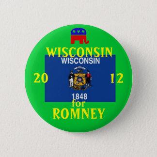 Wisconsinfor Romeey 2012 Runder Button 5,7 Cm