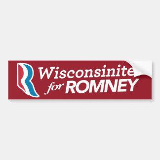 Wisconsinites für Romey Aufkleber Autoaufkleber