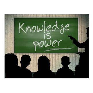Wissen ist Power Postkarte