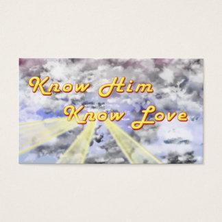 Wissen Sie, dass er Liebe kennt Visitenkarte