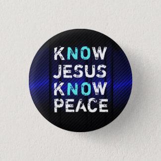 Wissen Sie, dass Jesus Friedensknopf kennen Runder Button 2,5 Cm