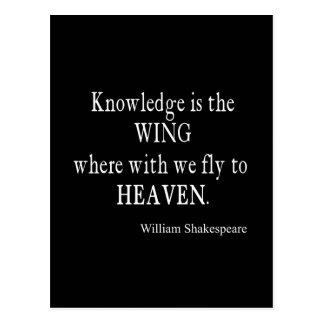 Wissens-Flügel-Fliege zu Himmelshakespeare-Zitat Postkarte