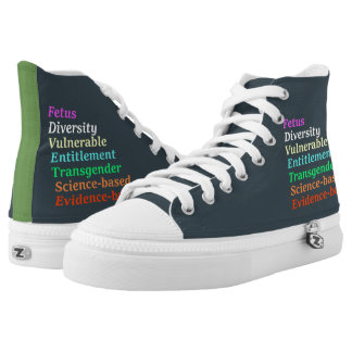 Wissenschaft basiert und andere verbotene Wörter Hoch-geschnittene Sneaker