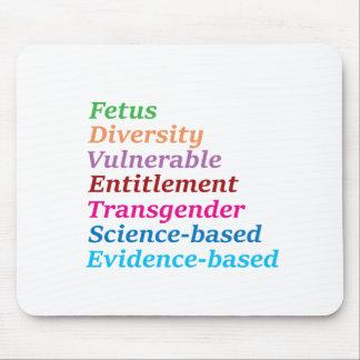 Wissenschaft basiert und andere verbotene Wörter Mousepads