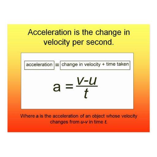 Wissenschaft, Beschleunigung ist die Zunahme der G Postkarten
