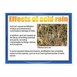 Wissenschaft, Chemie, Effekte des sauren Regens Postkarte
