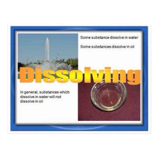 Wissenschaft, Chemie, lösend auf Postkarte