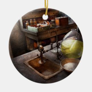 Wissenschaft - Chemiker - wissenschaftliche Rundes Keramik Ornament
