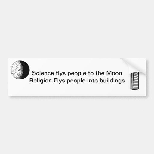 Wissenschaft flys Leute zum Mond Auto Sticker