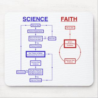 Wissenschaft gegen Glauben Mousepad