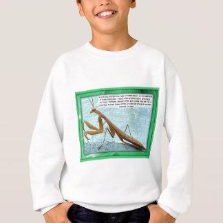 Wissenschaft, Insekten, betender Mantis Sweatshirt